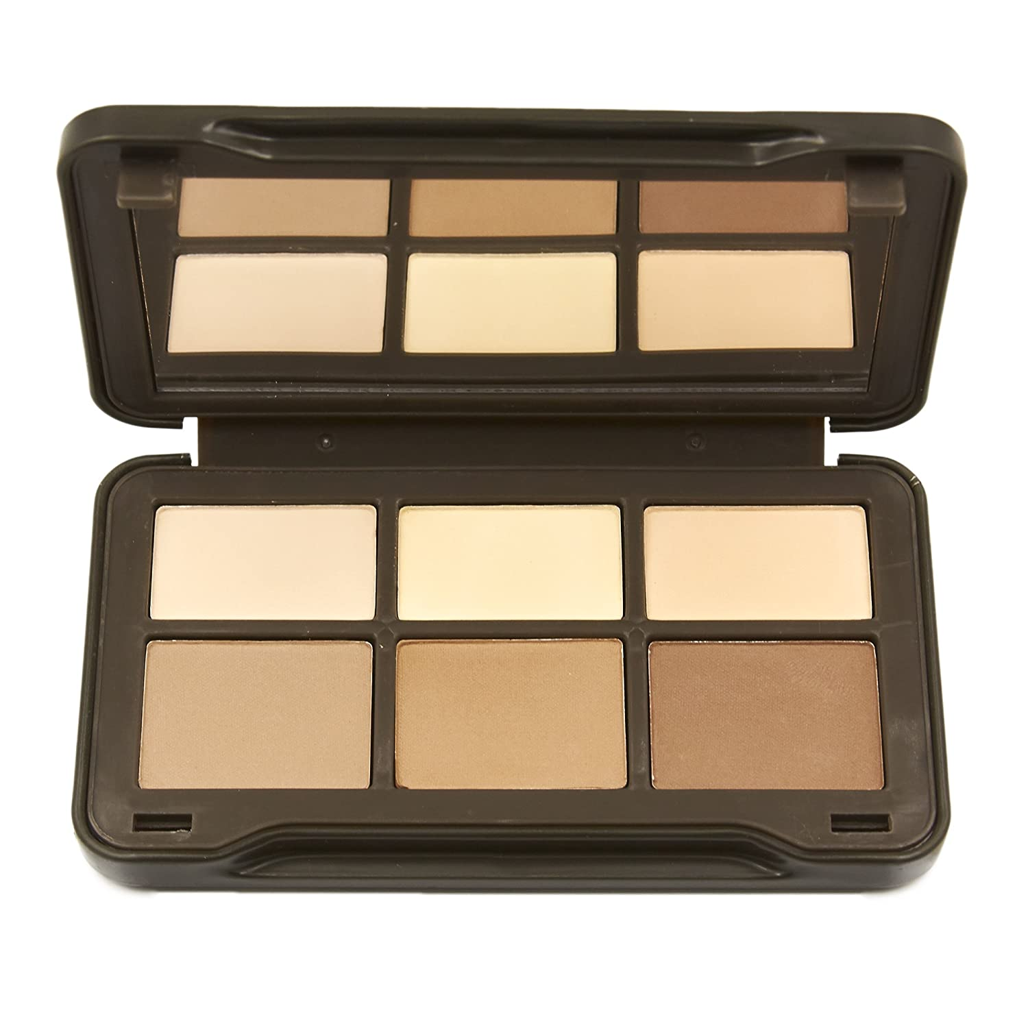 BYS On-The-Go Contour Powder Palette, Six Shades with Mirror