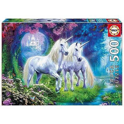 Educa Borrás- Puzzle 500 Unicornios en el Bosque (17648): Juguetes y juegos