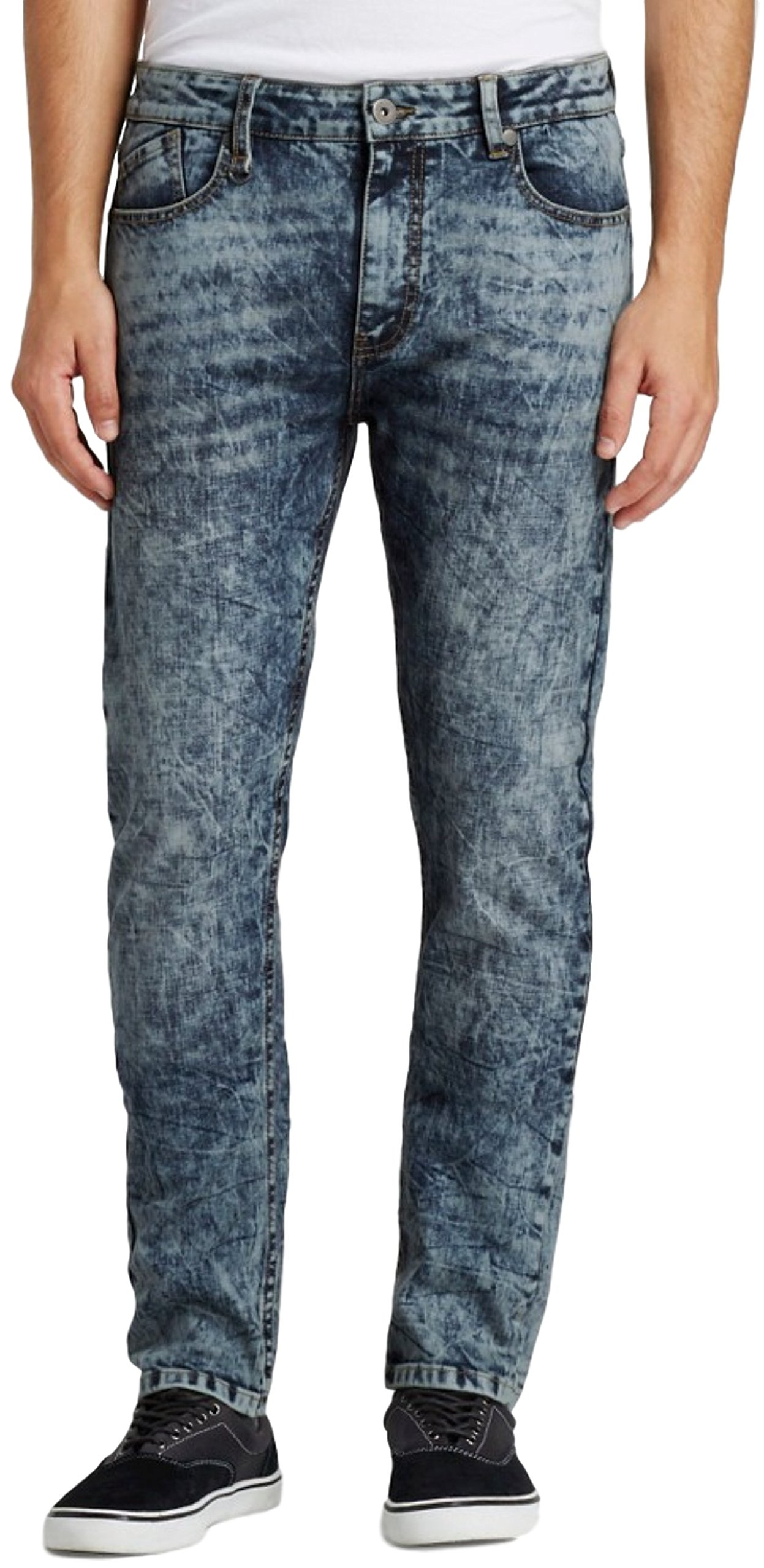Modern Threads by Well Versed Men's Skinny Fit Jeans (28X30, Indigo Acid) by Modern Threads by Well Versed (Image #1)