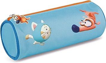 Nici 44250 Pat The Dog - Estuche Redondo (20 x 8 x 8 cm), Color Azul: Amazon.es: Juguetes y juegos