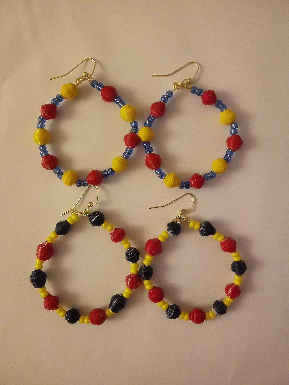 Colombia Flag colored Hoop Earrings