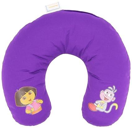Cojín para coche para niños - en forma de U - Dora la Exploradora - Almohadilla cervical – Violeta