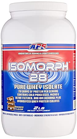 APS Nutrition IsoMorph, AAA-rated Pure Highest Quality Whey Isolate Protein Supplement, S Mores, 2 Pound