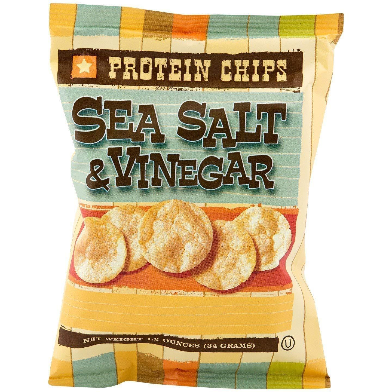 NutriWise - Sea Salt & Vinegar Chips   10g Protein Potato Crisps   High Protein, Low Calorie, Low Cholesterol, High Fiber (7 Bags) by NutriWise