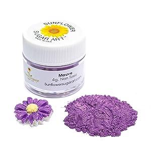 Purple Mauve Edible Luster Dust | Edible Powder & Dust | Food Grade Luster Dust for Decorating, Fondant, Baking | Polvo Matizador | Cakes, Vegan Paint, & Dust | Sunflower Sugar Art