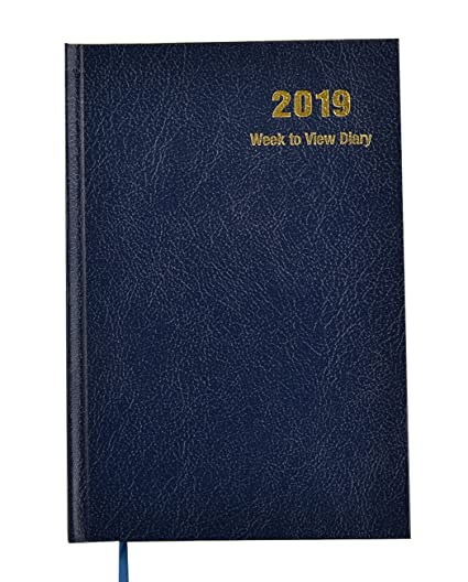 Agenda 2019, vista semanal, tapa dura., color A5 - Blue