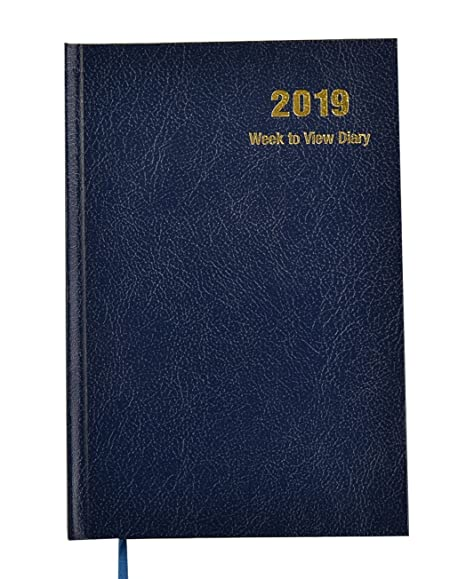 A5 Week to View Diary Diaries for 2018 with Hard Back Cover