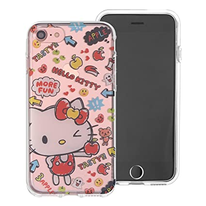 low priced 41748 e84e7 iPhone SE/iPhone 5S / iPhone 5 Case Hello Kitty Cute Clear Jelly Cover for  [ Apple iPhone SE / 5S / 5 ] Case - Fun Hello Kitty