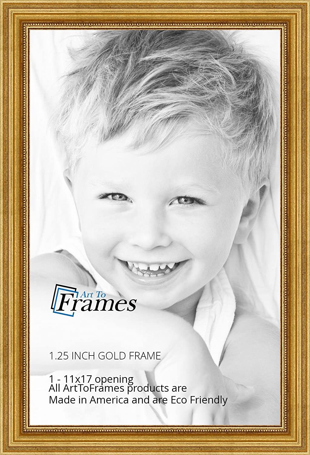 Amazon.com - ArtToFrames 11x17 inch Gold Foil on Pine Wood Picture ...
