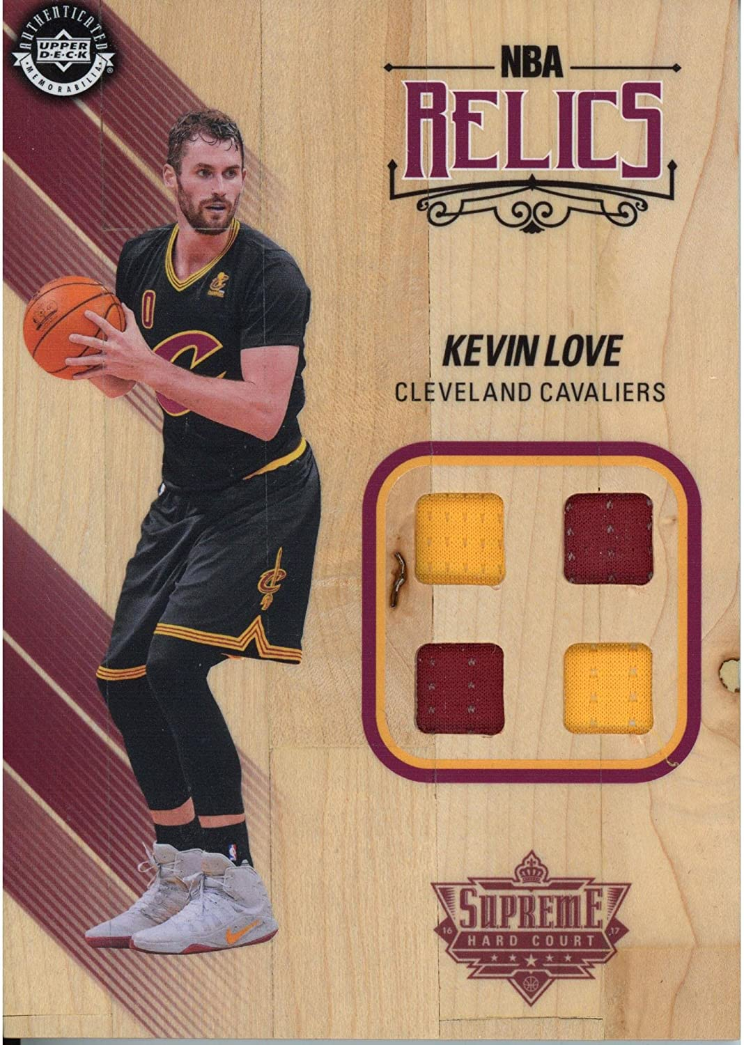 Kevin Love Cleveland Cavaliers Game Used Supreme Hard Court - Upper Deck - Fanatics Authentic Certified
