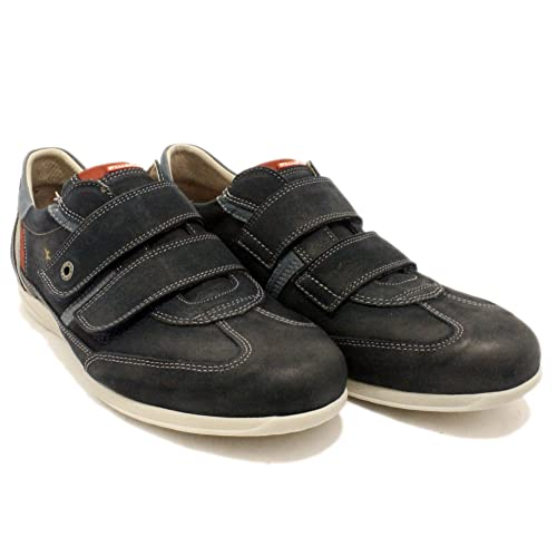 Fluchos 8645 - Zapatos Sport de Piel con Velcros - Azul, 43