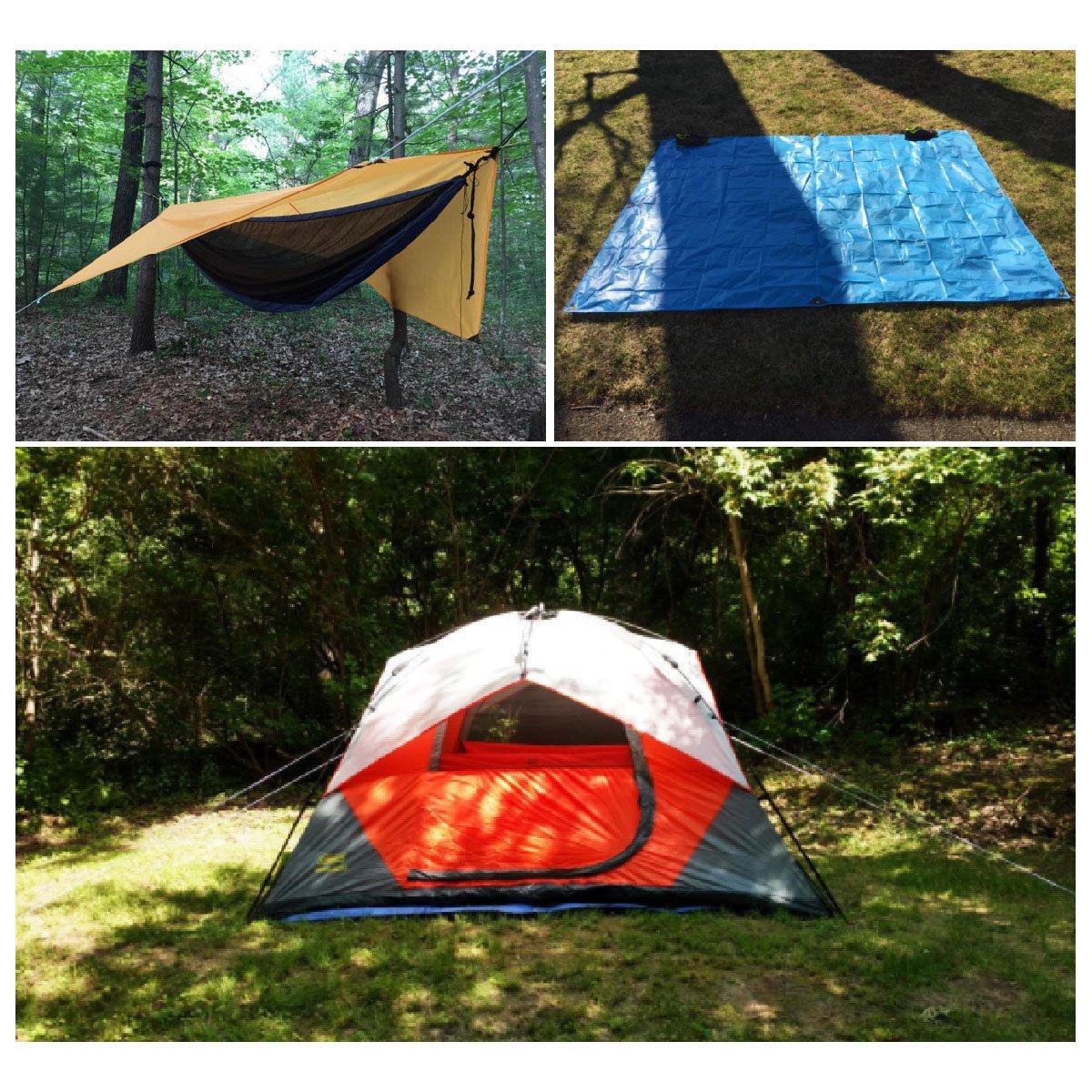 TRIWONDER Waterproof Hammock Rain Fly Tent Tarp Footprint Camping Shelter Ground Cloth Sunshade Mat for Outdoor Hiking Beach Picnic OS1603