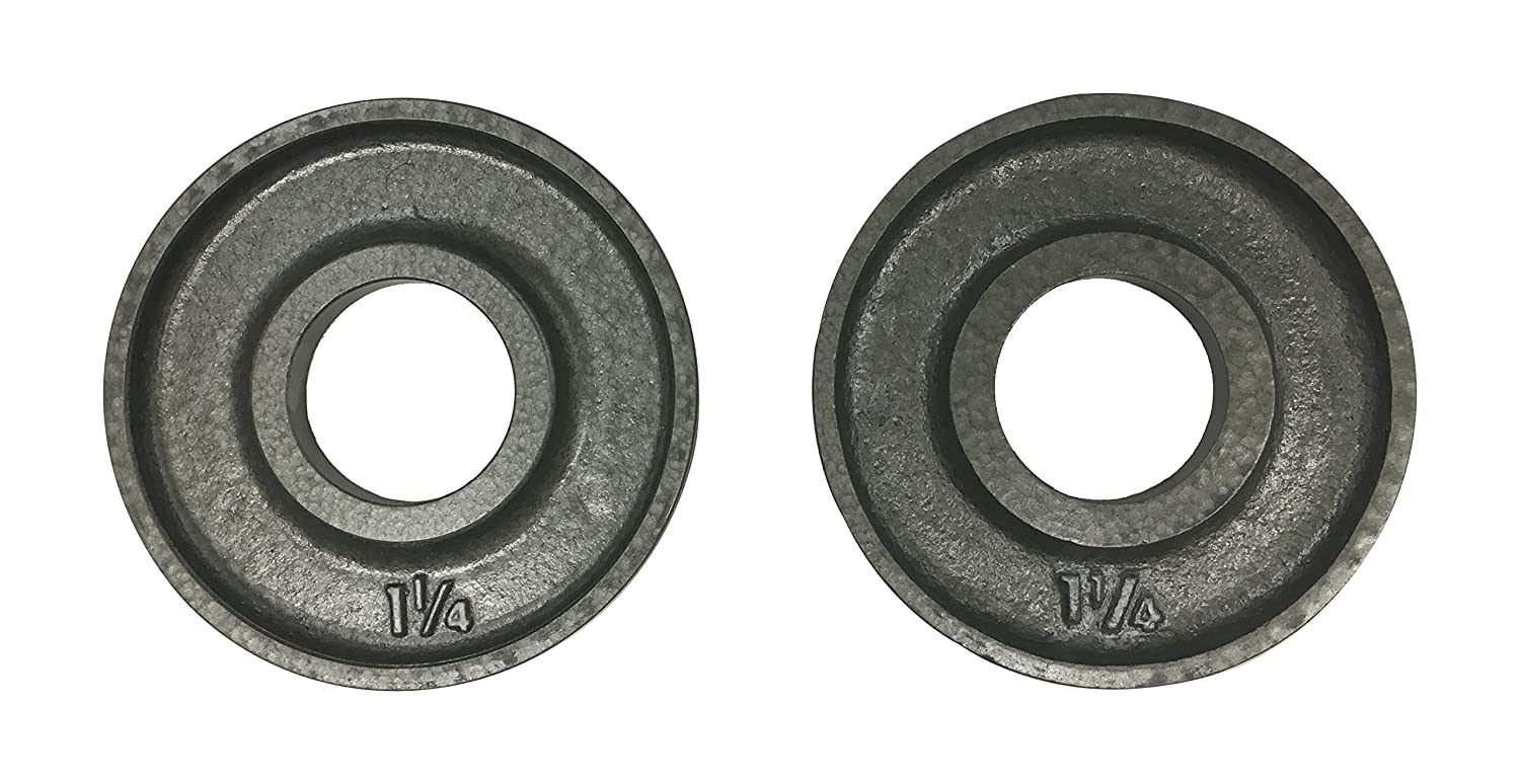 Ivanko OM-1.25 Cast-Iron, Machined Olympic Plate Grey 1.25 lbs Pair