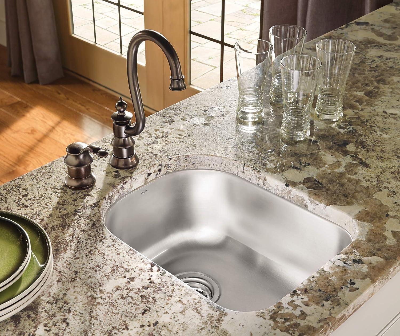 Stainless Moen G18461 1800 Series Steel 18-Gauge Single Bowl Sink