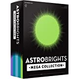 """Astrobrights Mega Collection Colored Paper, 8 ½ x 11, 24 lb/89 gsm, """"Frosty"""" 5-Color Assortment, 625 Ct. (91686)""""Amazon…"""