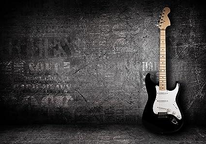 wandmotiv24 Papel pintado no tejido Guitarra eléctrica papel pintado fotográfico de 400 cm x 280 cmMural