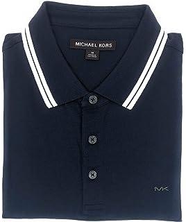 8b639adb7ef426 Michael Kors Mens Pima Soft Touch Classic Fit Polo Shirt Short Sleeve Pique