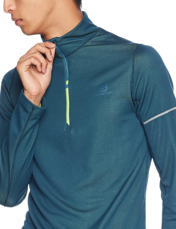 cheap for discount 2d103 86fc6 Salomon Homme Sweat de Sport, AGILE HZ MID, Mélange Synthétique, Vert Taille  XL, L40113000  Amazon.fr  Sports et Loisirs