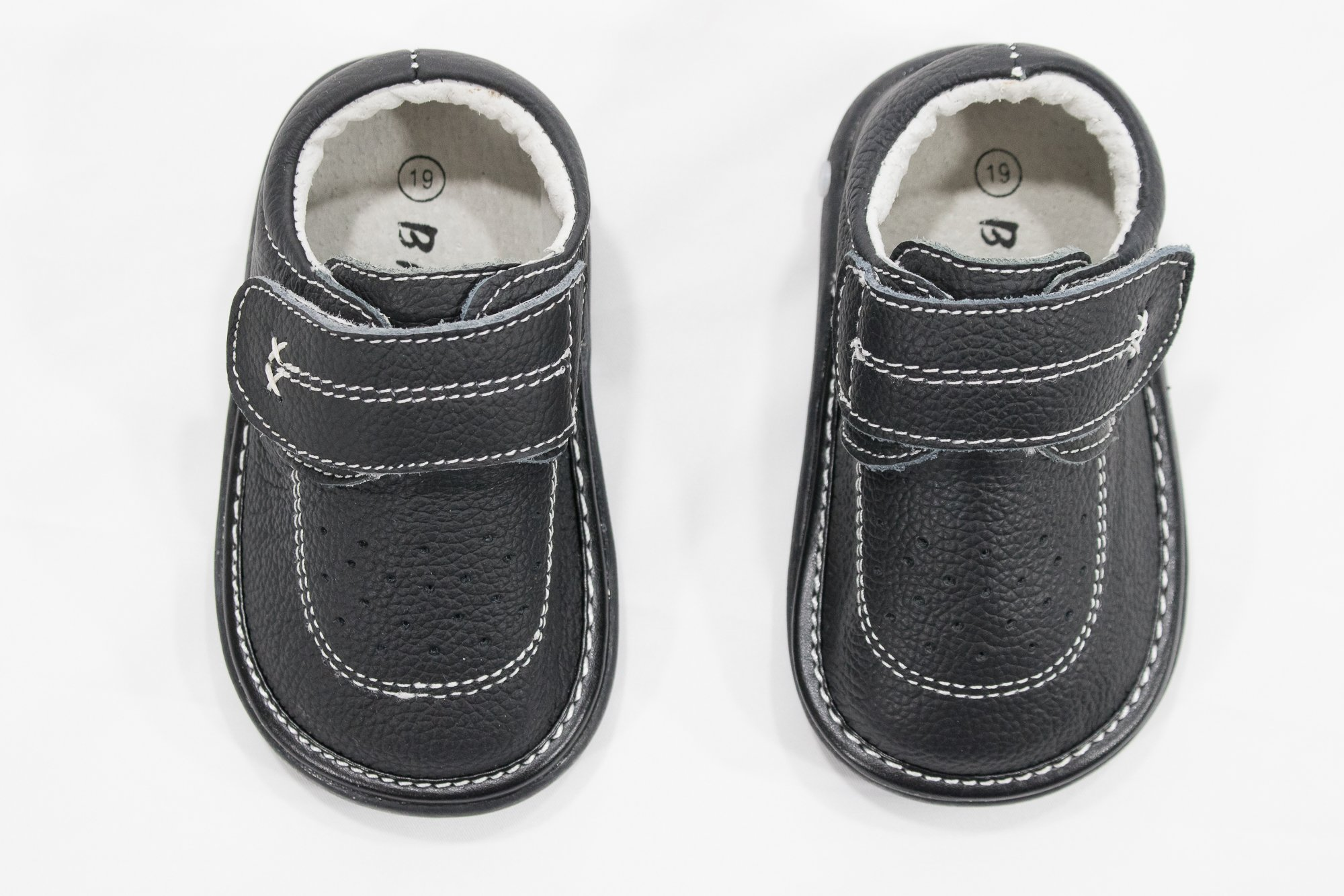 Anderson Baby Care LLC Squeaky Shoes for Toddler Boys (4T, Black Loafer) by Anderson Baby Care LLC (Image #8)