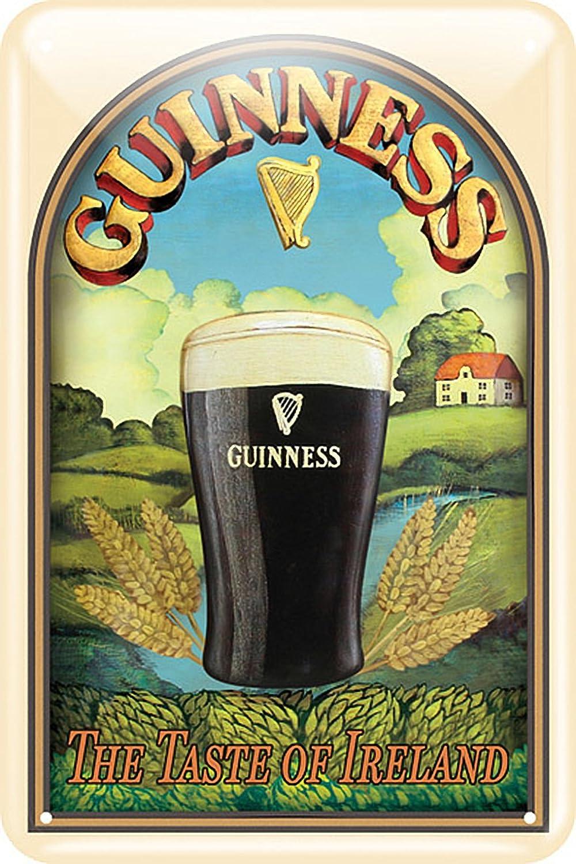 Guinness Metal Sign With Taste Of Ireland Design 20Cm X 30Cm