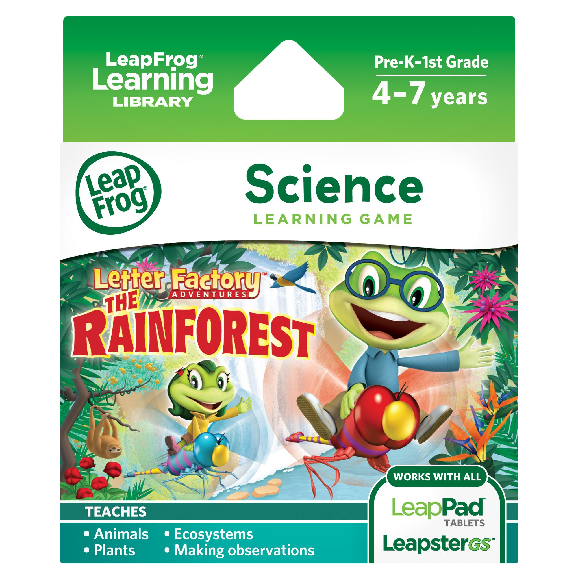 LeapFrog Learning Game Letter Factory Adventures: The Rainforest (for LeapPad tablets and LeapsterGS)