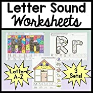 Letter Sound Worksheets {26 Letters A-Z!} {Alphabet Worksheets]