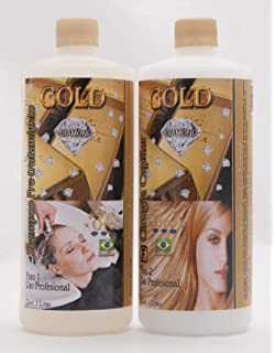 CIRUGIA CAPILAR GOLD DIAMOND BRAZILIAN 32 ONZAS + SHAMPOO Surgery Natural Fast Shipping