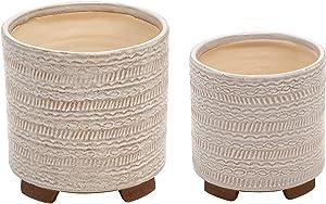 Sagebrook Home 14504-01 Ceramic Tribal Look 8/7