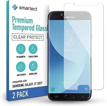 Smartect Schutzglas Kompatibel Mit Samsung Galaxy J7 2017 2 Stück Tempered Glass Mit 9h Härte Blasenfreie Schutzfolie Anti Kratzer Displayschutzfolie Elektronik