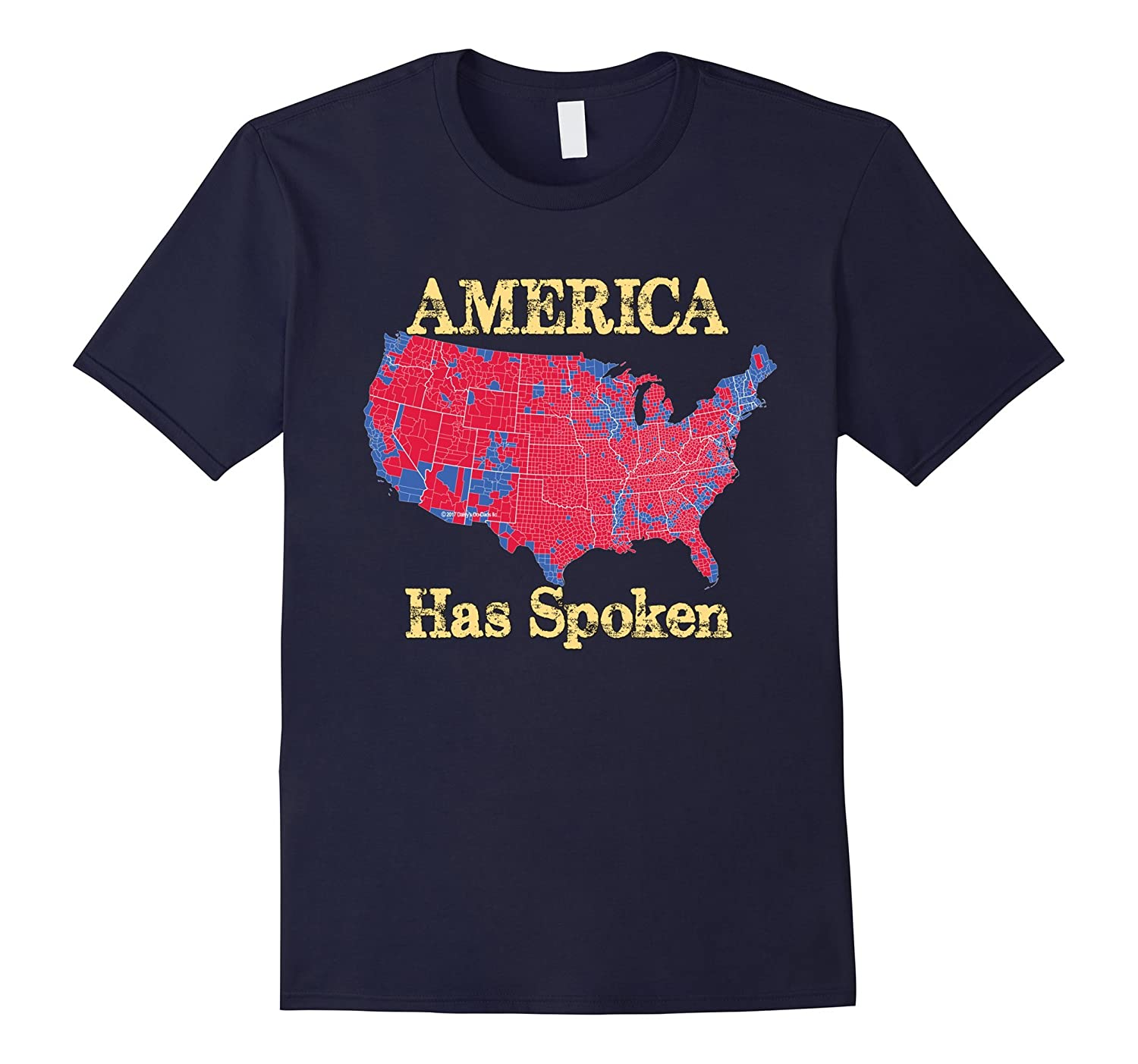 America Has Spoken USA Election 2016 Results Map T Shirt-CD
