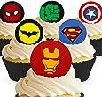Toppershack 12 x decoración para pasteles comestibles PRECORTADAS de Lego Star Wars