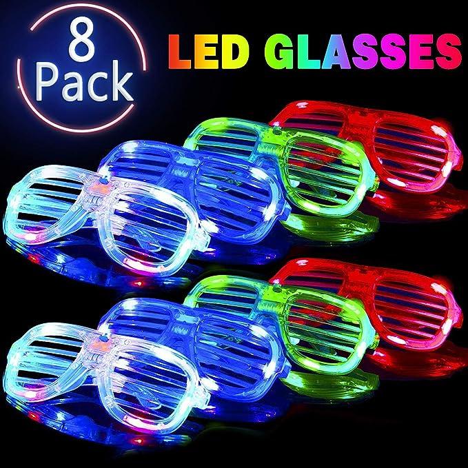 Amazon.com: Gafas de luz LED que brillan en la oscuridad ...