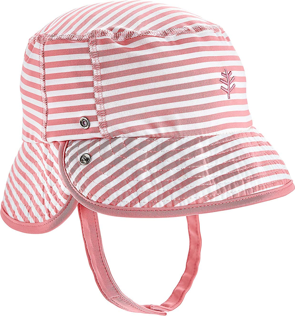 Coolibar Boys Uv Protective 50 Plus Chin Strap Hat-Beige 2-3 Years