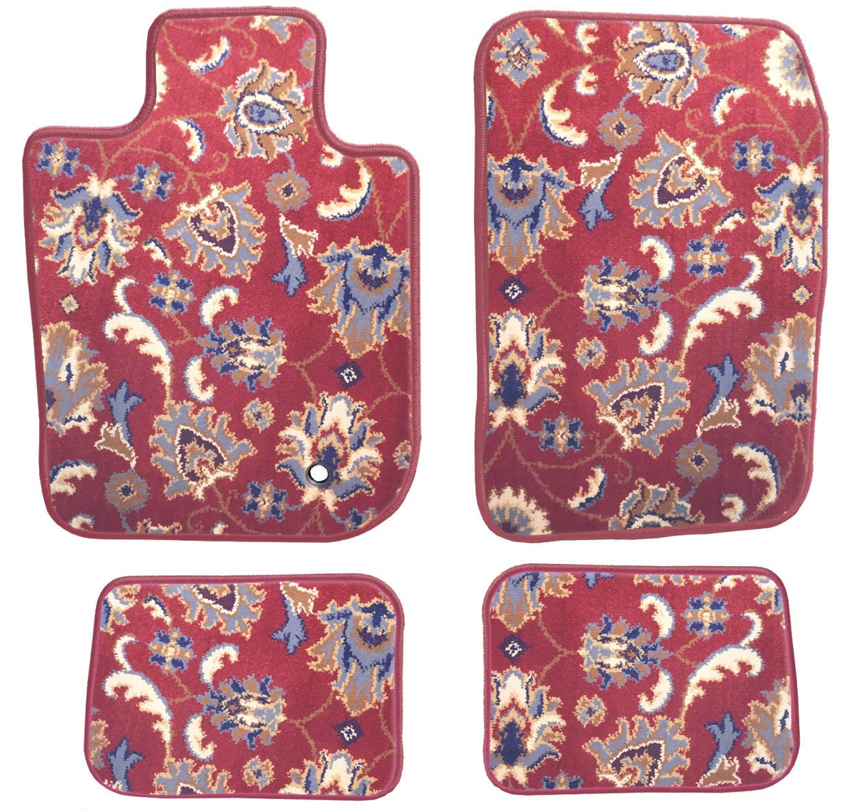 Passenger /& Rear Floor Mats 1929 1931 Ford Model A GGBAILEY Custom Fit Car Mats for 1928 1930 Red Oriental Driver