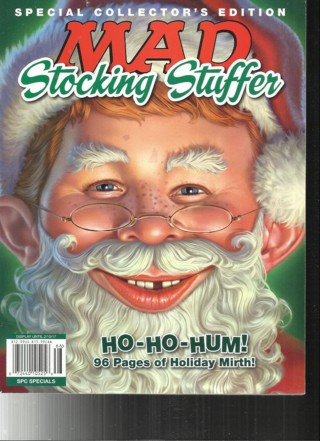 MAD STOCKING STUFFER MAGAZINE, SPECIAL COLLECTOR'S EDITION ISSUE, 2017 SPECIAL COLLECTOR'S EDITION ISSUE s3457
