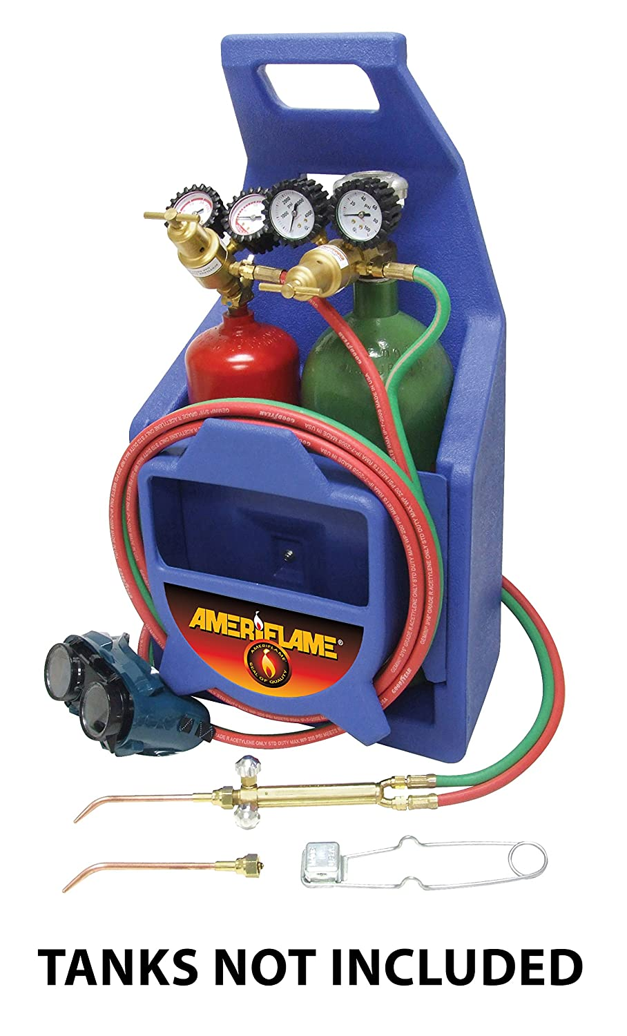 Ameriflame T100A Medium Duty Portable Welding Brazing Outfit with Plastic Carrying Stand
