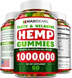 Omega 3, 6 & 9 Gummies for Stress Relief - 50 MG per Gummy, 90 count - Pain, Insomnia & Anxiety Management - Made in USA - Tasty & Relaxing Herbal Gummies - Premium Extract - Mood & Immune Support