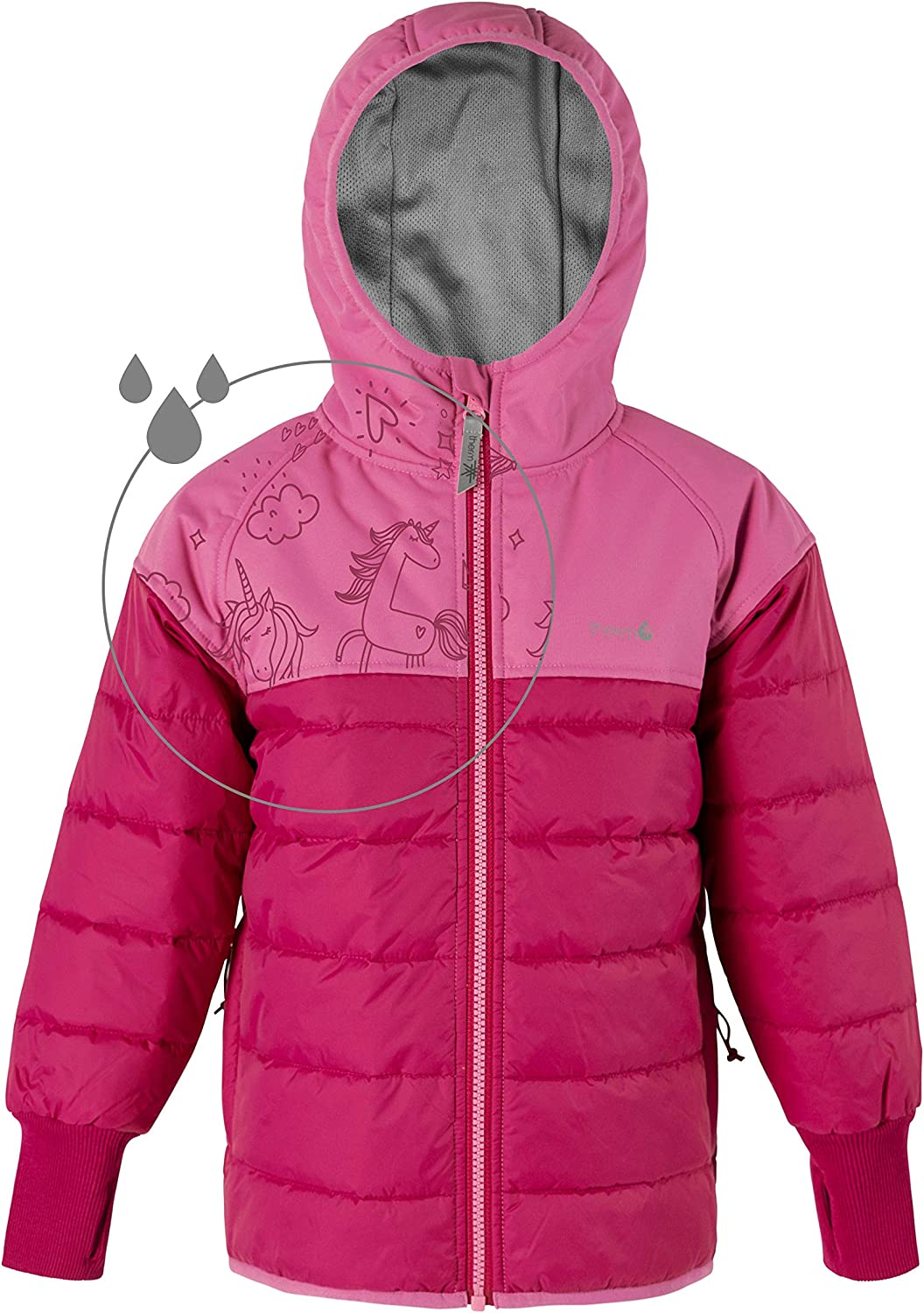 Girls and Toddler Therm Kids Winter Coat Lightweight Waterproof Puffer Jacket w Magic Pattern for Boys