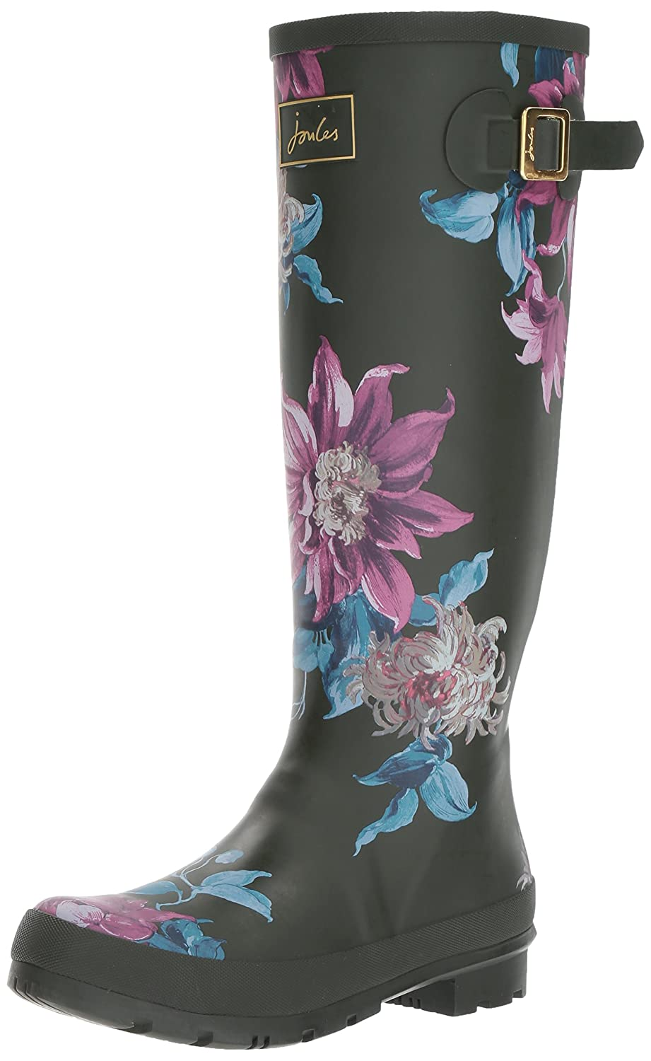 Joules Women's Welly Print Rain Boot B06X3VTYXW 5 B(M) US|Olive Clemantis