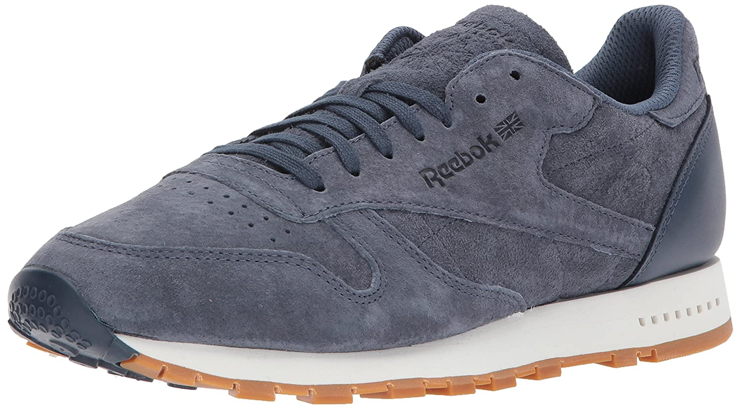76d0a129b3f Reebok Cl Leather Sg Sneaker Smoky Indigo Chalk-Gum 7.5 D(M) US  Buy Online  at Low Prices in India - Amazon.in