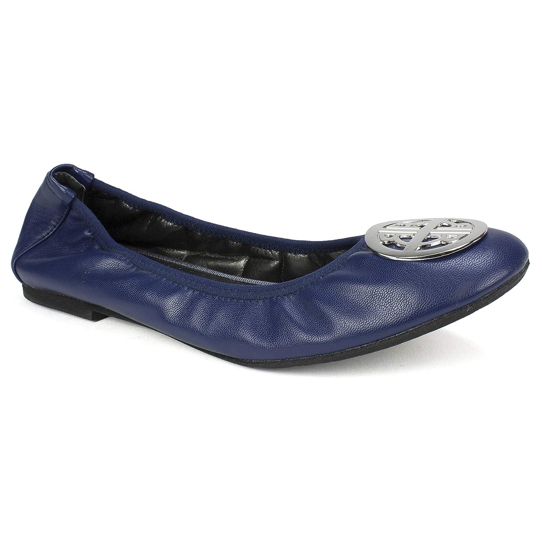 8H M Navy//Kid//Nappa RIALTO Shoes Sydney II Womens Flat