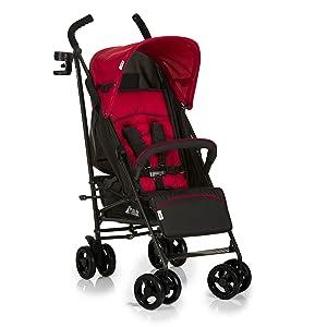 Hauck Speed Plus Four Wheel Pushchair - Red/Black