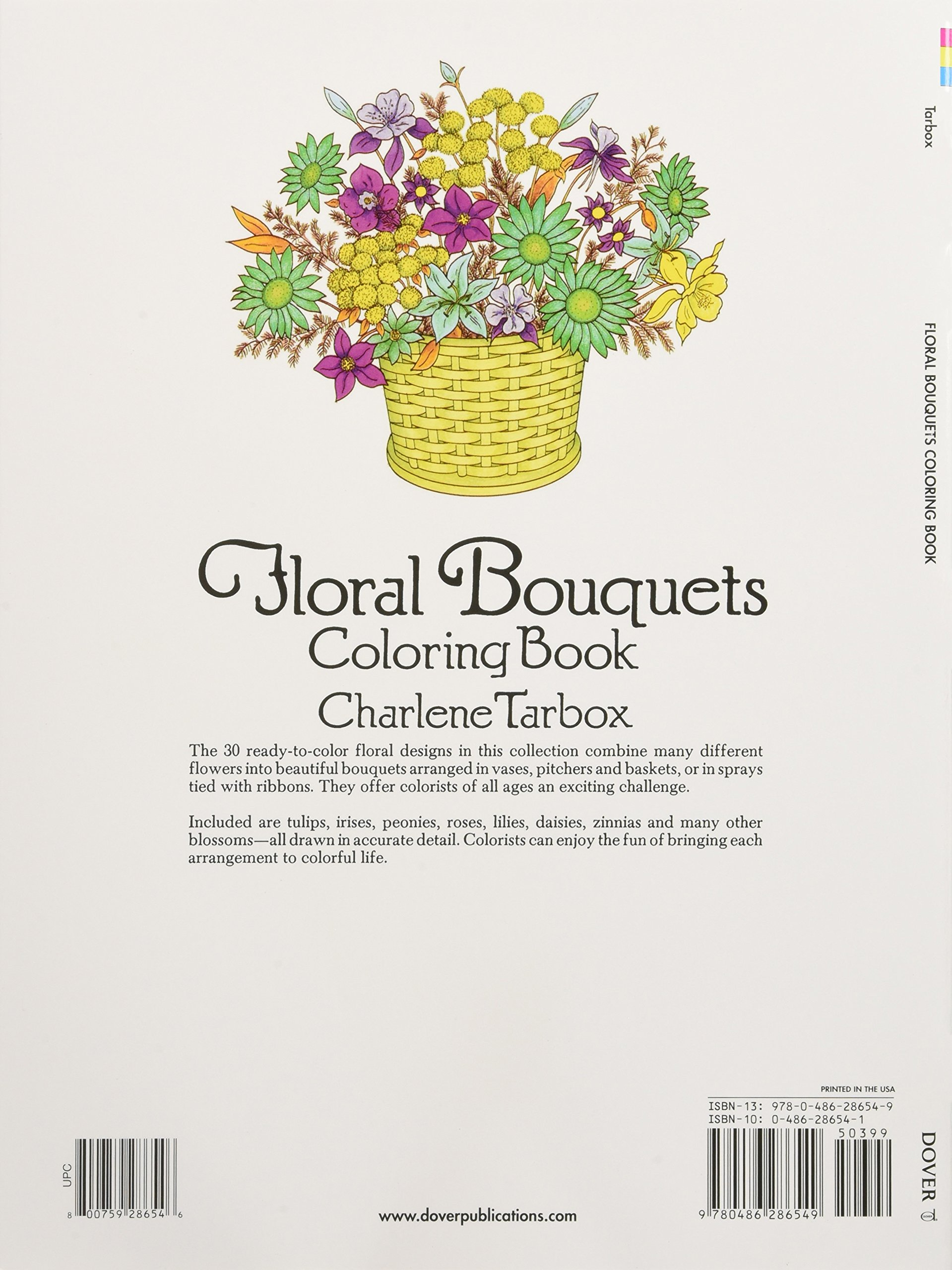 floral bouquets coloring book dover nature coloring book