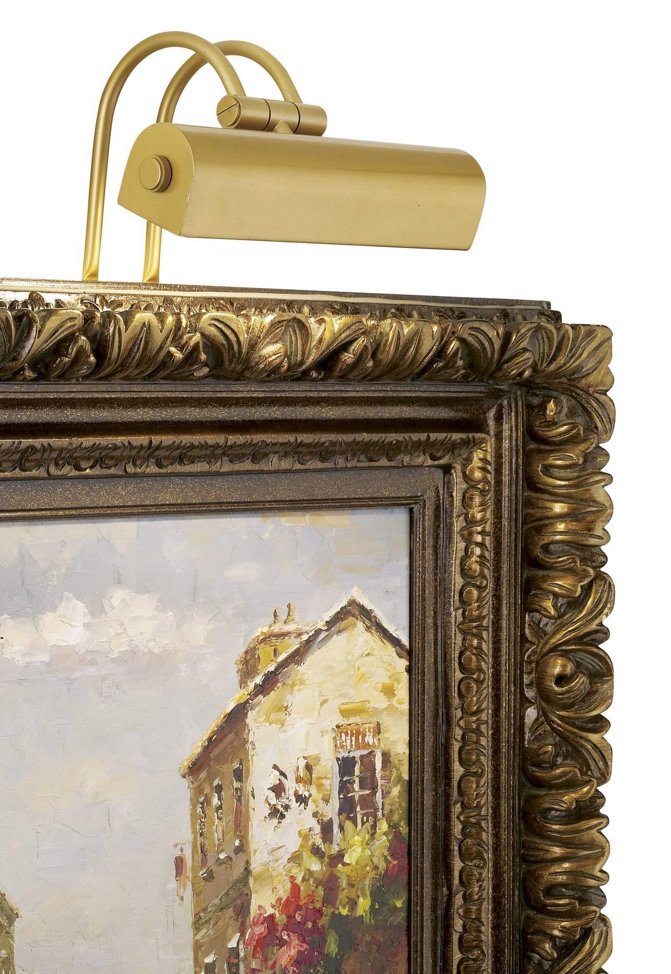 Light Gold 9'' Wide Plug-in Picture Light - Possini Euro Design