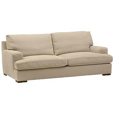 Amazon Com Gordon Tufted Sofa 32 Quot Hx91 Quot Wx38 Quot D Natural