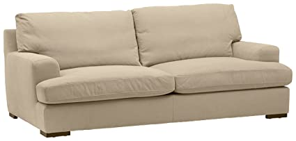 online store 113b6 295ca Stone & Beam Lauren Down-Filled Oversized Sofa Couch with Hardwood Frame,  89