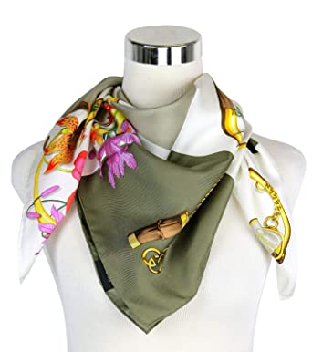 46522c97da0 Image Unavailable. Image not available for. Color  Gucci Women s Patchwork  Print Brown Beige Silk Large Handbag Scarf ...