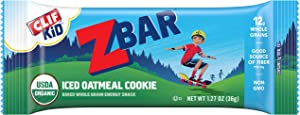 CLIF KID ZBAR - Organic Granola Bars - Iced Oatmeal Cookie - (1.27 Ounce Energy Bars, Lunch Box Snacks, 18 Count)