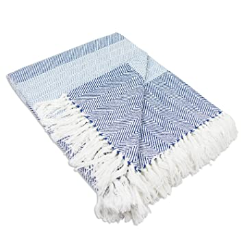 Wondrous Dii Rustic Farmhouse Cotton Stripe Blanket Throw With Fringe For Chair Couch Picnic Camping Beach Everyday Use 50 X 60 Rugby Stripe Blue Alphanode Cool Chair Designs And Ideas Alphanodeonline
