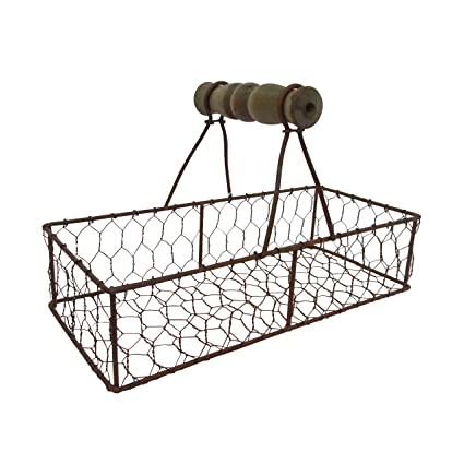 06d9ceb884f8 Amazon.com: Craft Outlet Mesh Rustic Metal Container Holder, 9.25 ...
